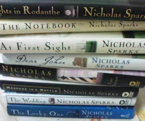 books, the lucky one, and dear john image