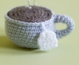 crocheted, tea, and cup image