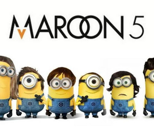 minions, maroon 5, and funny image