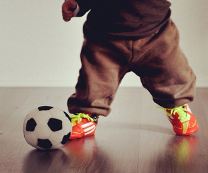 baby, football, and boy image
