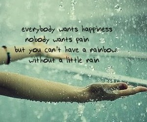 rain, rainbow, and quotes image