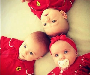 baby, red, and ferrari image