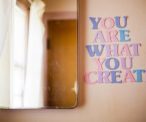 create, mirror, and text image