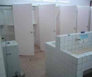 bathroom, pink, and pale image