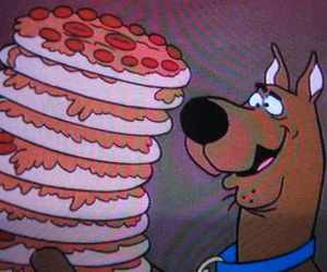 scooby doo and pizza's image