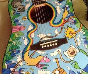 guitar, adventure time, and music image