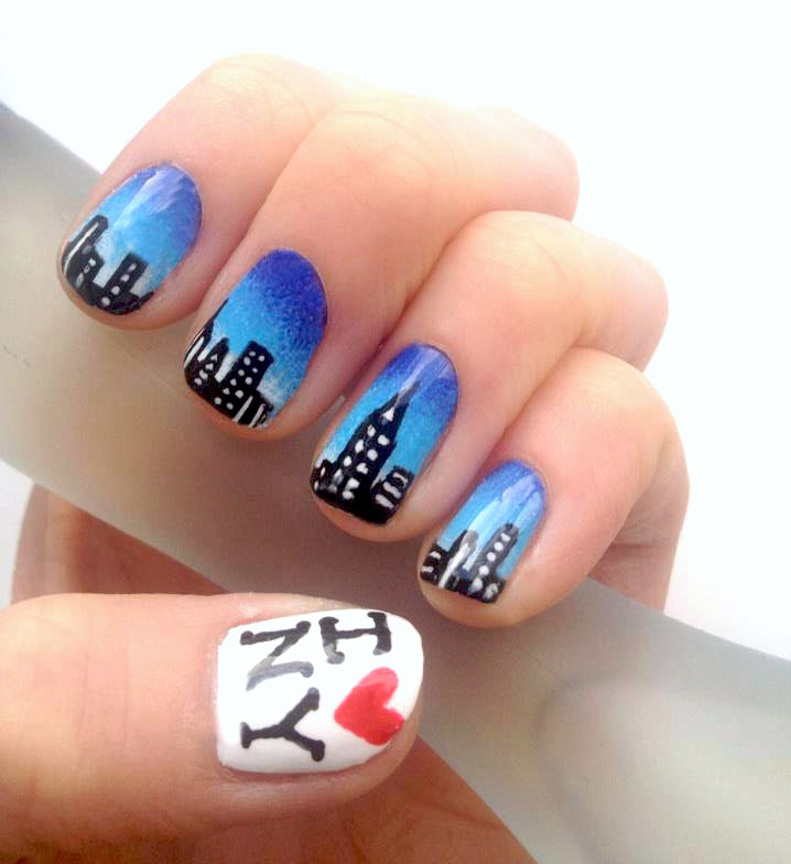 New York nails art shared by Never stop dreaming!