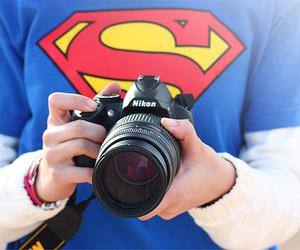 superman, camera, and nikon image