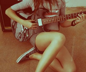 girl, guitar, and cute image