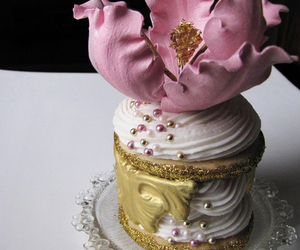 cake, cupcake, and flower image