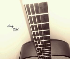 guitar, only girl, and music image