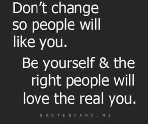 quote, be yourself, and real image