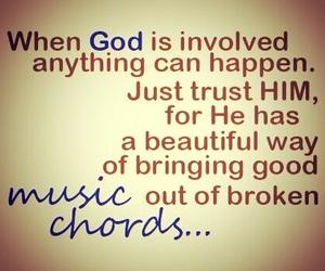 god, music, and trust image