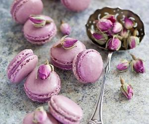 macaroons, food, and rose image