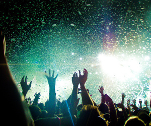 party, light, and concert image
