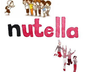happiness, nutella, and overlays image