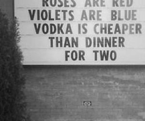 vodka, rose, and quote image