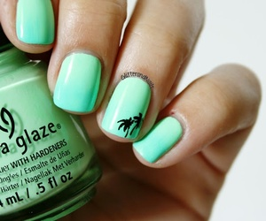 nails, green, and palm image