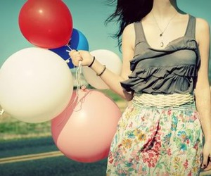 balloons, cute, and fashion image