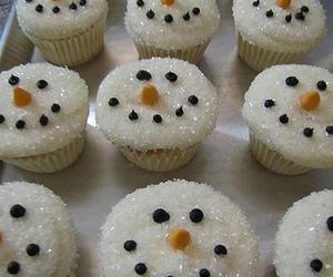 cupcake, snowman, and christmas image