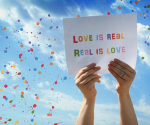 love, sky, and balloons image