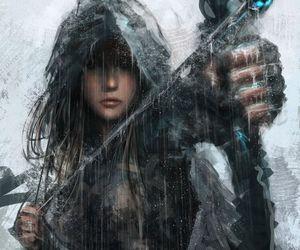 fantasy, warrior, and arrow image