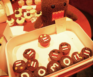 domo, cute, and cupcake image