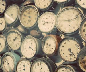 clocks, time, and vintage image