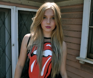 girl, hair, and rolling stones image