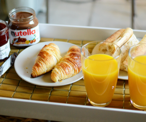 food, nutella, and croissant image