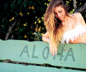 girl, Aloha, and summer image