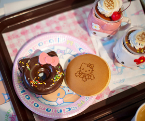 hello kitty, food, and donuts image