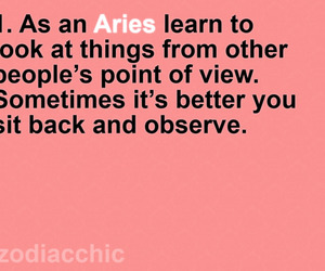 aries, facts, and text image