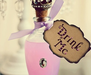 pink, drink me, and drink image