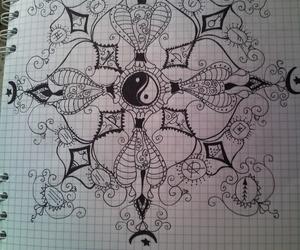 drawing, mandala, and mine image
