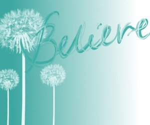 believe, blue, and quote image