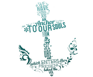 anchor, quote, and blue image