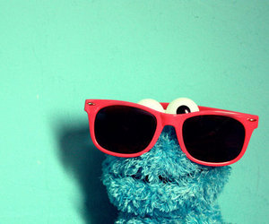 cookie monster and simple and cute things image