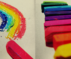 rainbow, colors, and pastel image