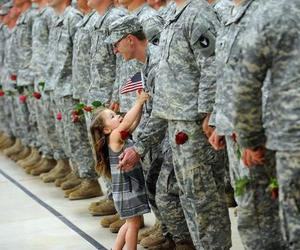 love, dad, and army image
