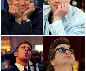 face, Marvel, and robert downey jr image