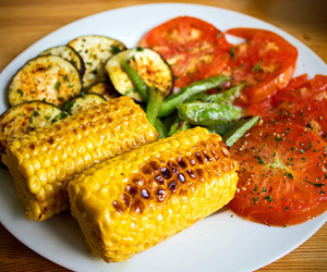food, healthy, and corn image