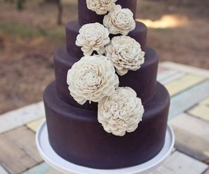 wedding, cake, and chocolate image