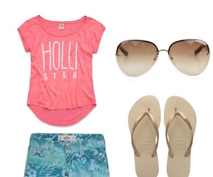 beach, hollister, and clothes image