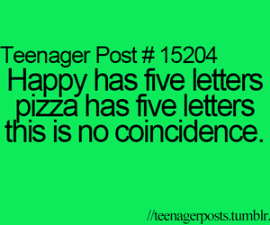happy, pizza, and teenager post image
