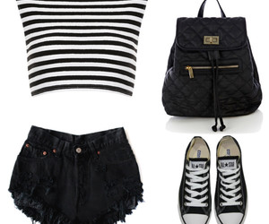 bagpack, converse, and fashion image