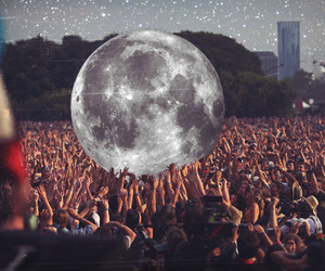 moon, people, and concert image