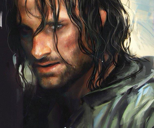 aragorn, art, and lord of the rings image