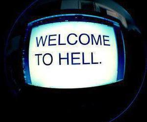 hell, welcome, and text image