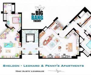the big bang theory, penny, and apartment image